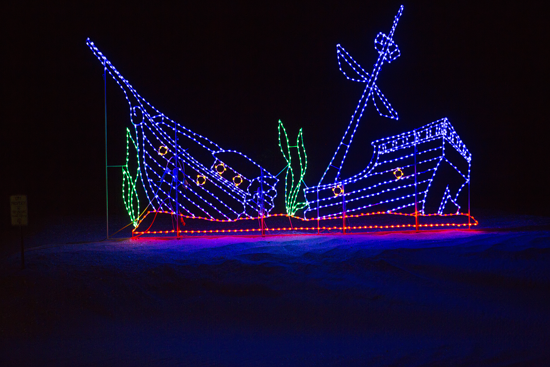 Holiday of Lights at the Beach